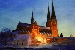Domkyrkan-akvarell