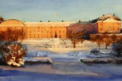 Slottet-akvarell