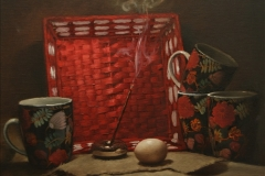 Egg and incense
